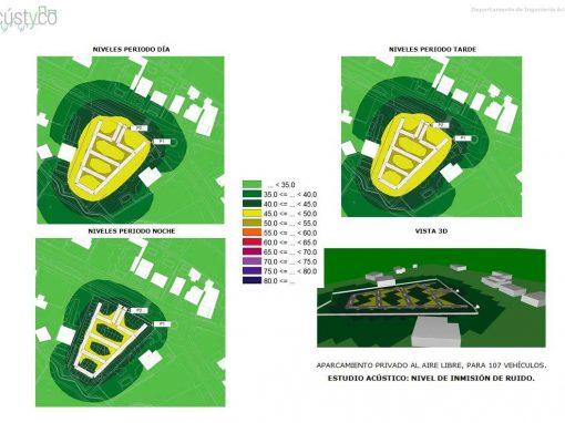 Estudio impacto ambiental: Mapa ruido de parking al aire libre