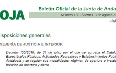 Nomenclator Andalucía 2018